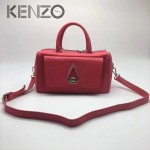KENZO-025 新款女式枕頭包水滴logo牛皮壓大象紋手提單肩斜背包
