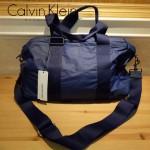 Calvin Klein-0035 專櫃經典款寶藍色防水面料大容量手提單肩包