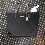Calvin Klein-002 新款女士牛津布配牛皮大號單肩購物袋