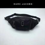 MARC JACOBS-035 正品最新款時尚三羊皮柔軟黑色腰包