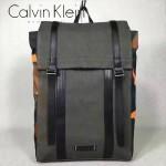 Calvin Klein-0032 戶外必備新款帆布配迷彩尼龍面料休閒雙肩包書包