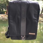 Calvin Klein-0018 專櫃新款降落傘面料配牛皮雙肩包書包