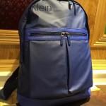 Calvin Klein-001-2 專櫃經典款男士防水面料配皮雙肩包書包