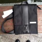 Calvin Klein-0016 時尚男士降落傘面料配牛皮小號單肩斜挎包