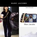 Marc Jacobs-010 春夏系列宋茜同款牛仔布拼接徽章單肩斜挎包相機包