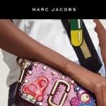 Marc Jacobs-05 個性百搭新款紫色蛇紋配蘑菇亮片單肩斜挎包相機包