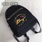KENZO-001 時尚男女款原單客供防水尼龍電銹字母休閒雙肩包書包