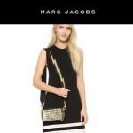 Marc Jacobs-03-4 劉詩詩同款snapshot黃白輻射亮片原版爆裂紋牛皮相機包