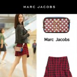 Marc Jacobs-03-5 劉詩詩同款snapshot藍白輻射亮片原版爆裂紋牛皮相機包