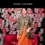 Marc Jacobs-013 復古新款蛇形金屬扣拼色羊皮單肩斜挎包