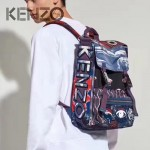 KENZO-002 潮流個性塗鴉防水降落傘面料雙肩包書包
