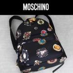 Moschino-041 莫斯奇諾客供尼龍印花款女士休閒雙肩包