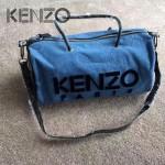 KENZO-008 時尚休閒拼色牛仔布3D立體刺繡大號手提單肩包