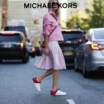 Michael Kors-001 明星楊冪同款紅色牛皮單肩斜挎包相機包