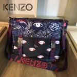 KENZO-0010 潮人必備男女款眼睛塗鴉防水面料單肩斜挎包自帶夜光
