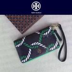 Tory Burch-050 PVC印花款女士單拉鏈手腕包配有包裝盒手腕包