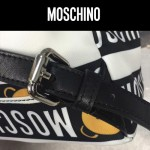 Moschino-040 莫斯奇諾小熊印花布時尚潮流雙肩包