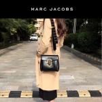 Marc Jacobs-06 宋佳同款蛇形金屬扣黑色牛皮大號單肩斜挎包