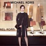 Michael Kors-001-2 明星楊冪同款黑色牛皮單肩斜挎包相機包