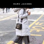 Marc Jacobs-011 宋佳同款蛇形金屬扣黑色牛皮小號單肩斜挎包