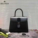 Delvaux-06-2 春夏專櫃定制款Brillant 彩虹系列黑色原版牛皮手提單肩包