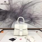 Delvaux-04-9 時尚復古brilliant 白色原版BOX光面牛皮手提單肩包