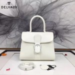 Delvaux-05-7 復古風brilliant 白色原版BOX光面牛皮大號手提單肩包