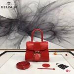 Delvaux-04-10 時尚復古brilliant 紅色原版BOX光面牛皮手提單肩包