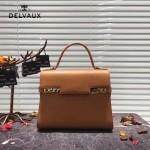 Delvaux-034-2 全新TP系列swift小牛皮配粗肩背手提單肩包