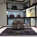 Delvaux-17-7 人氣熱銷brillant深灰色原版粒面牛皮手提單肩包