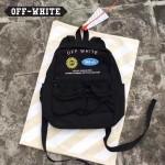 OFF-WHITE-055 時尚潮流勛章款男女款雙肩包