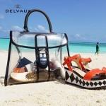 Delvaux-09 春夏時尚限量版brilliant X-ray原單透明果凍包大號手提包
