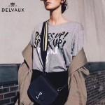 Delvaux-07 時尚百搭Le Mutin黑色原版牛皮單肩斜挎包小豬包
