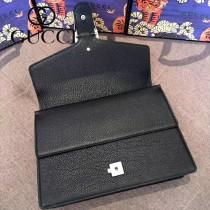 GUCCI 403348-9 專櫃新款Dionysus系列鑲鑽虎頭原單黑色全皮大號酒神包