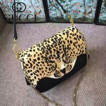 GUCCI-461913-2 豹紋雙用袋狂野豹紋最新款女士手提單肩斜挎包