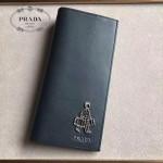 PRADA 2M0836-06 精英必備男士公仔系列黑色原版十字紋長款西裝夾