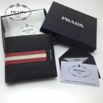 PRADA 2M0513-6 專櫃最新配色175鋼印原單十字紋兩折短款錢包