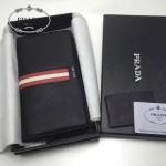PRADA 2M1188-14 商務男士新配色原單十字紋長款錢包手拿包
