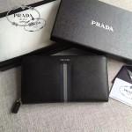 PRADA 2M1188-15 商務男士新配色原單十字紋長款錢包手拿包