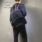 PRADA VZ0066-3 潮人必備男士原單黑色降落傘面料休閒雙肩包書包
