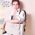 PRADA 1TY001 時尚魅力純手工製作原單黃色花朵百搭包包肩帶