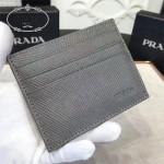 Prada-2MC223-2 原版十字紋進口小牛皮6卡位卡片夾卡包