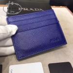 Prada-2MC223-4 原版十字紋進口小牛皮6卡位卡片夾卡包