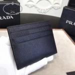 Prada-2MC223 原版十字紋進口小牛皮6卡位卡片夾卡包