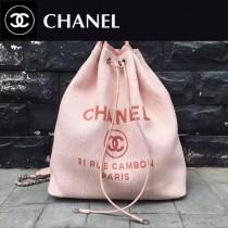CHANEL-001-5 春夏帆布專屬夏日的旅行背包配經典沙灘包刺繡雙肩包