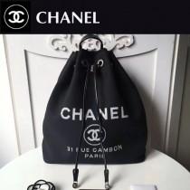 CHANEL-001-4 春夏帆布專屬夏日的旅行背包配經典沙灘包刺繡雙肩包