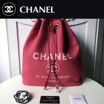 CHANEL-001-3 春夏帆布專屬夏日的旅行背包配經典沙灘包刺繡雙肩包