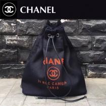 CHANEL-001-6 春夏帆布專屬夏日的旅行背包配經典沙灘包刺繡雙肩包