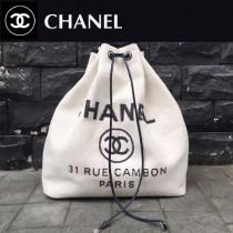 CHANEL-001-2 春夏帆布專屬夏日的旅行背包配經典沙灘包刺繡雙肩包
