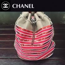 CHANEL-005-2 新款手工穿珠片時尚潮流水桶型雙肩包